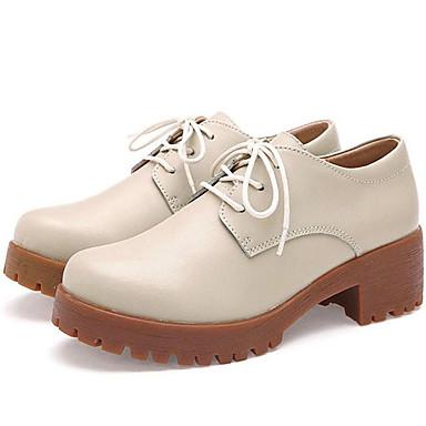 Magassarkú-Vastag-Női cipő-Tornacipők-Irodai / Alkalmi-Nappa Leather-Fekete / Sárga / Bézs