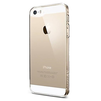 Pouzdro Uyumluluk iPhone 5 / Apple iPhone SE / 5s / iPhone 5 Ultra İnce / Şeffaf Arka Kapak Solid Yumuşak TPU