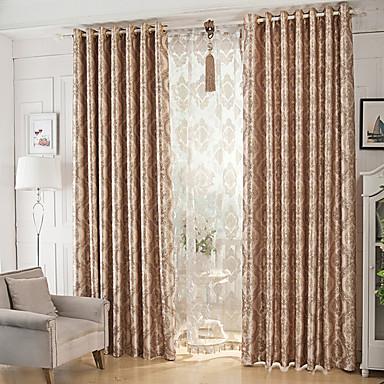 Deux Panneaux Le traitement de fenêtre Moderne Salle à manger Polyester Matériel Rideaux Tentures Décoration d'intérieur For Fenêtre