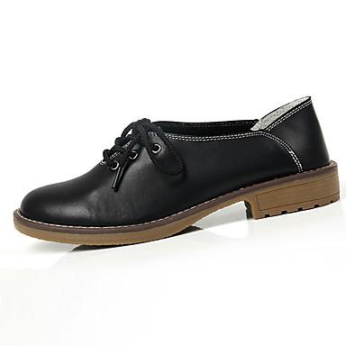 Kényelmes-Lapos-Női cipő-Félcipők-Alkalmi-Bőr-Fekete / Kék / Sárga / Piros