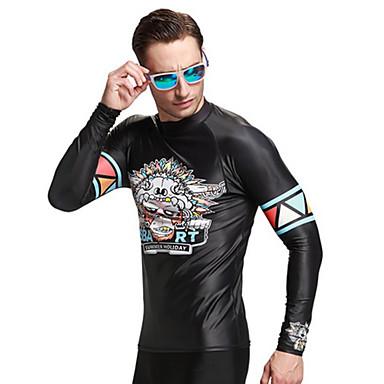 SBART Homme Anti Irritation Résistant aux ultraviolets Compression Tactel Manches Longues Hauts / Top Plongée Surf Snorkeling