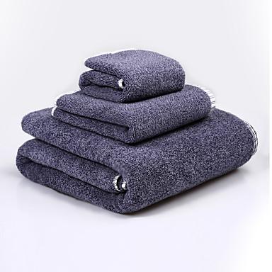 איכות מעולה סט מגבות אמבטיה, רקמה 100% כותנה חדר אמבטיה