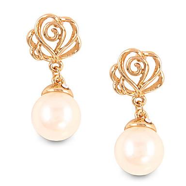 Clou d'oreille Boucle Alliage Imitation de perle Femme