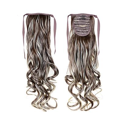 איכות גבוהה 100 גרם 55 סנטימטר 22inch שרוך קוקו זול # 8/613 צבע מעורב עבור בנות יפות זנבות סינטטיים