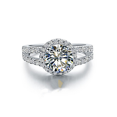 נשים טבעות רצועה אופנתי כסף סטרלינג מצופה פלטינום תכשיטים חתונה