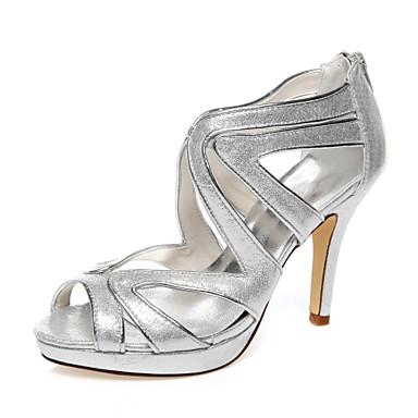 בגדי ריקוד נשים נעליים PU אביב / קיץ עקב סטילטו פאייטים כסף / חתונה / מסיבה וערב