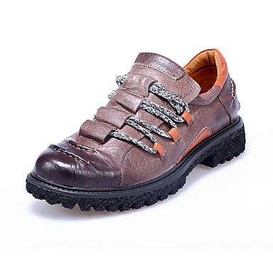 גברים נעליים עור אביב קיץ סתיו חורף נוחות נעלי אוקספורד הליכה עבור חום