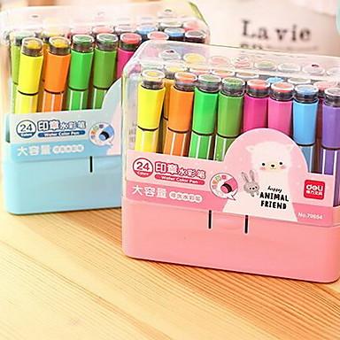 Caneta Caneta Canetas de cor de água Caneta, Plástico Cores Aleatórias cores de tinta Para material escolar Material de escritório Pacote de