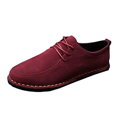 Herre-PU-Flat hæl-Komfort-Oxfords-Fritid-