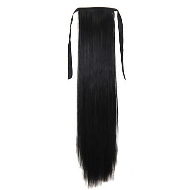 Κουμπωτό Αλογορουρές Συνθετικά μαλλιά Κομμάτι μαλλιών Hair Extension Ίσιο