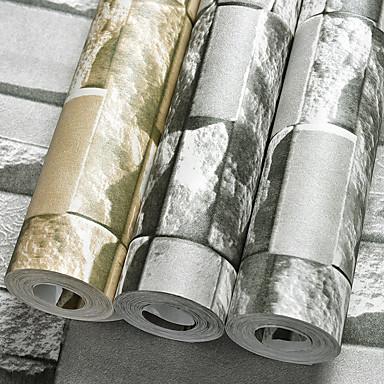 3D Haus Dekoration Moderne Wandverkleidung, PVC/Vinyl Stoff Klebstoff erforderlich Tapete, Zimmerwandbespannung