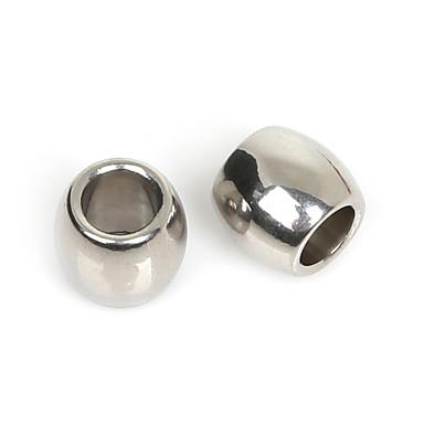 Les perles 10x11mm en acier inoxydable de poney de beadia pour la fabrication de bijoux (trou 6mm)