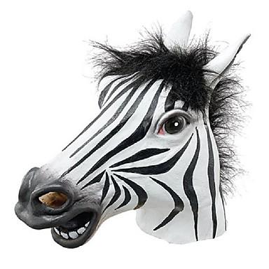 sjov halloween maske realistisk latex hestehoved / interessant funny party maskerade masker silikone ansigt zebra maske