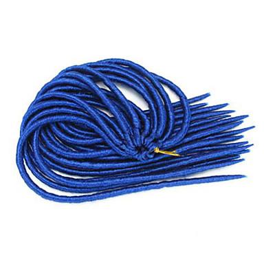 Azul Havana / Crochê Dreadlocks Extensões de cabelo 14 18 inch Kanikalon 24 costa 115-125 grama Tranças de cabelo