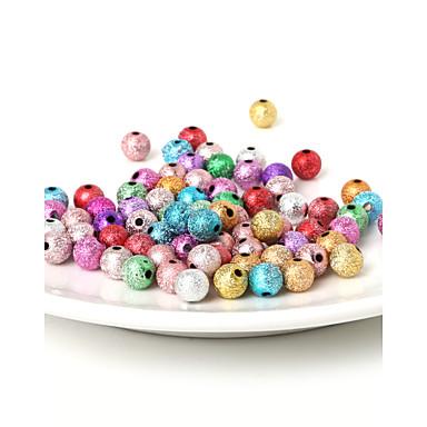 beadia 8mm akryl perler gull sølv plast perler 29g (aprx.100-pakning)