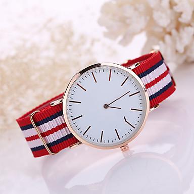 בגדי ריקוד גברים קווארץ שעון יד שעונים יום יומיים בד להקה קסם אופנתי שחור לבן כחול אדום