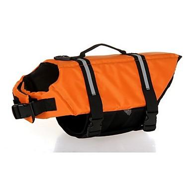 Chien Gilet de sauvetage Vêtements pour Chien Eté Printemps/Automne Couleur Pleine Sportif Etanche Orange Rouge Bleu Rose