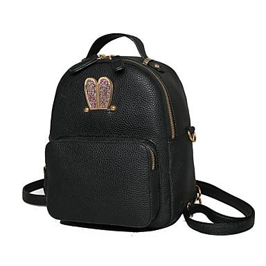 Damen Taschen PU Rucksack Abdeckung für Einkauf Normal Sport Draussen Ganzjährig Weiß Schwarz Rosa