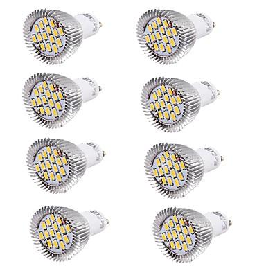 abordables Ampoules électriques-YouOKLight 8pcs 6 W Spot LED 450-500 lm GU10 MR16 15 Perles LED SMD 5630 Décorative Blanc Chaud Blanc Froid 100-240 V 220-240 V 85-265 V