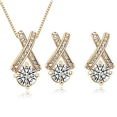 Schmuckset Halskette / Ohrringe Liebe Modisch Zirkon Kubikzirkonia Aleación Halsketten Ohrringe Für Alltag Normal 1 Set Hochzeitsgeschenke