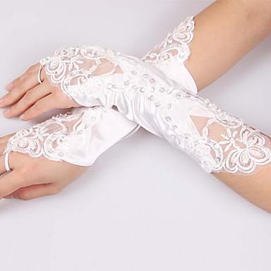 Polyester Albuelængde Handske Brudehandsker / Fest- / aftenhandsker Med Paillette