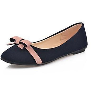 Dames Schoenen Fleece Zomer Comfortabel Platte schoenen Platte hak Strik voor Causaal Beige Donkerblauw