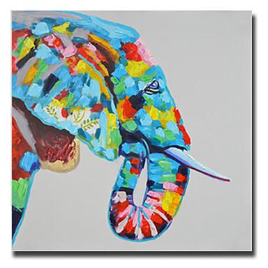 מצויר ביד חיות ריבוע, קלסי סגנון ארופאי מודרני פסטורלי ריאליסטי ים- תיכוני מסורתי בַּד ציור שמן צבוע-Hang קישוט הבית פנל אחד