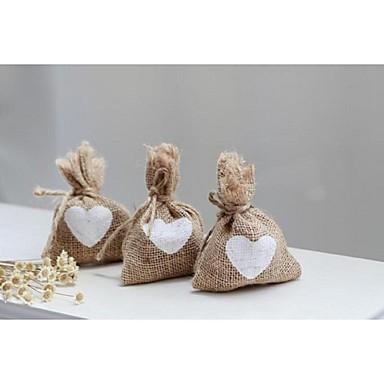 Quader Jüte Geschenke Halter mit Muster Geschenktaschen