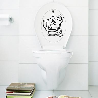 Bande dessinée Stickers muraux Stickers avion Stickers muraux décoratifs / Stickers toilettes,PVC Matériel Amovible Décoration d'intérieur