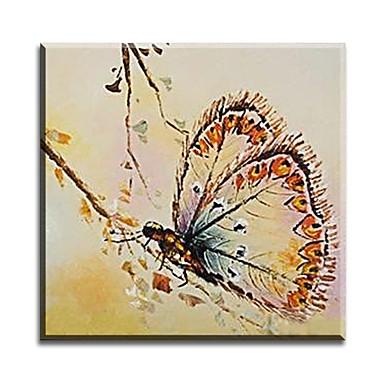 Peint à la main Animal Format Horizontal,Classique Moderne Traditionnel Réalisme Méditerranéen Pastoral Style européen Toile Peinture à