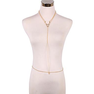 בגדי ריקוד נשים תכשיטי גוף שרשרת בטן שרשרת גוף / בטן שרשרת ביקיני סגנון מינימליסטי אופנתי ארופאי סגסוגת Geometric Shape תכשיטים עבור יומי