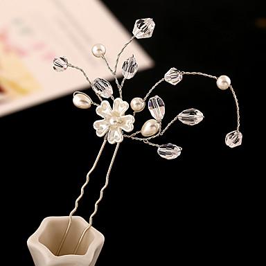 Strassz / Műanyag / Ötvözet Virágok / Hair Tool / Hair Pin 1 Esküvő / Különleges alkalom / Születésnap Sisak