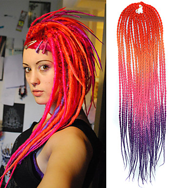 Dread Locks Haarzöpfe Senegal Geflochtene Haarzöpfe 100 % Kanekalon-Haar Geflochtenes Haar Haarverlängerungen