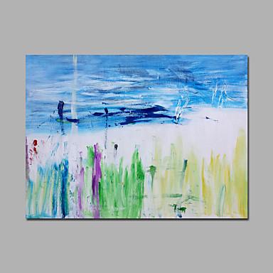 Peint à la main Abstrait Horizontale,Pastoral Un Panneau Toile Peinture à l'huile Hang-peint For Décoration d'intérieur