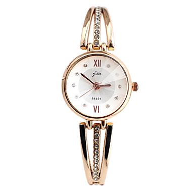Dame Quartz Simulert Diamant Klokke Armbåndsur Imitasjon Diamant Hverdagsklokke Legering Band Elegant Mote Sølv Gylden
