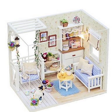 CUTE ROOM משחקי דמויות ערכות לבניית מודלים עץ חתיכות בנות מתנות