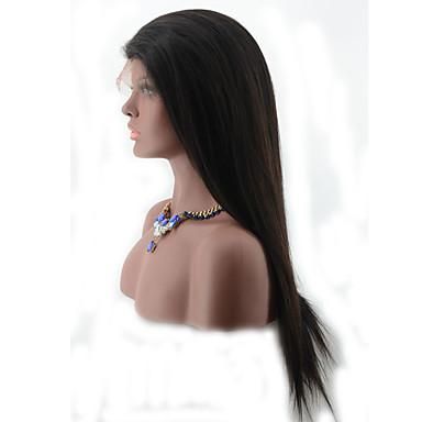 Cheveux humains Dentelle frontale Perruque Droit 130% Densité 100 % Tissée Main Perruque afro-américaine Ligne de Cheveux Naturelle Court