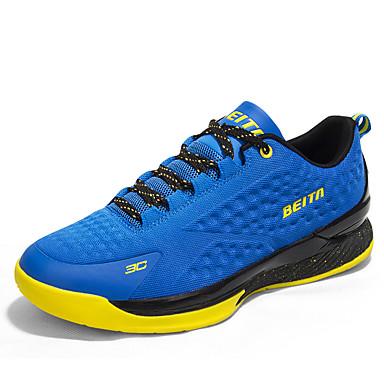 Homme Chaussures Cuir Hiver Printemps Eté Automne Confort Basketball Lacet pour Noir Jaune Bleu