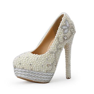 Beige-Bryllup sko-Dame-Hæler-høye hæler-Bryllup / Formell / Fest/aften