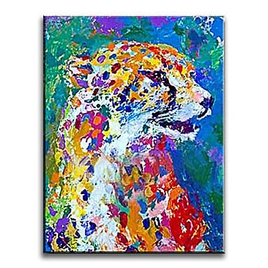 Peint à la main Animal Format Vertical,Classique Style Moderne Traditionnel Réalisme Méditerranéen Pastoral Style européen Toile Peinture