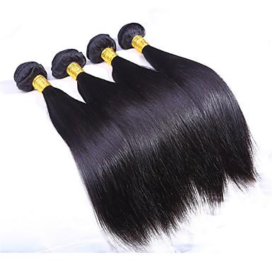 שיער אנושי שיער הודי טווה שיער אדם ישר תוספות שיער 3 חלקים צבע טבעי