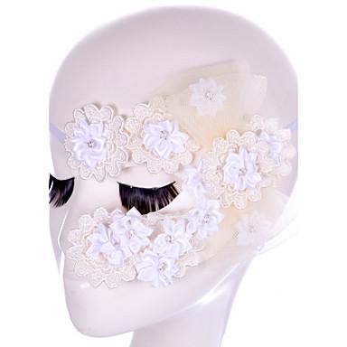 ハロウィーンパーティーの装飾マスカーマスカレード用SEYスタイル黒/白のレースのマスク