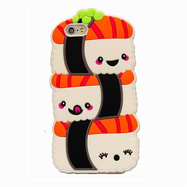 de volta Other Desenhos 3D Silicone Macio Case Capa Para Apple iPhone 6s Plus/6 Plus / iPhone 6s/6 / iPhone SE/5s/5