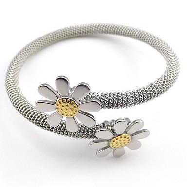 Femme Manchettes Bracelets Mode 18K or Alliage Forme de Cercle Bijoux Pour Mariage