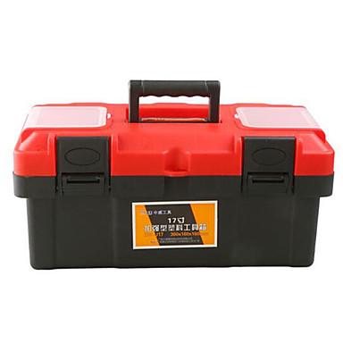dicke rote Kunststoff-Werkzeugkasten Multifunktions-portable / Auto (17 Zoll)
