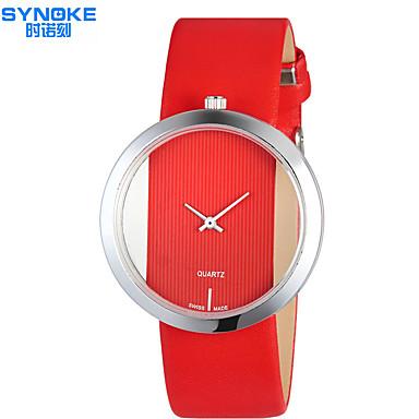 SYNOKE Mujer Reloj de Moda Resistente al Agua PU Banda Casual Negro / Blanco / Rojo / Acero Inoxidable