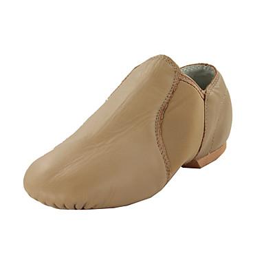 Mujer Zapatos de Jazz / Botas de Baile Semicuero Plano Tacón Plano No Personalizables Zapatos de baile Negro / Marrón / Interior