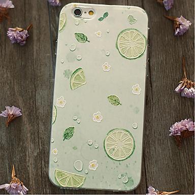 Til Støtsikker Etui Bakdeksel Etui Frukt Myk TPU til Apple iPhone 6s Plus/6 Plus iPhone 6s/6 iPhone SE/5s/5