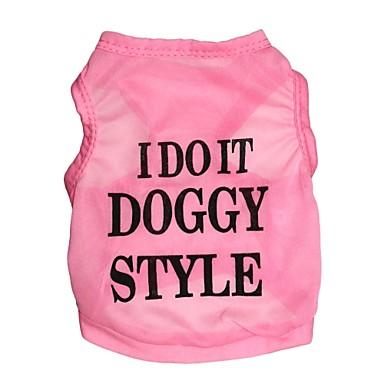 Gato Perro Camiseta Ropa para Perro Flores / Botánica Negro Azul Rosa Terileno Disfraz Para mascotas Hombre Mujer Moda
