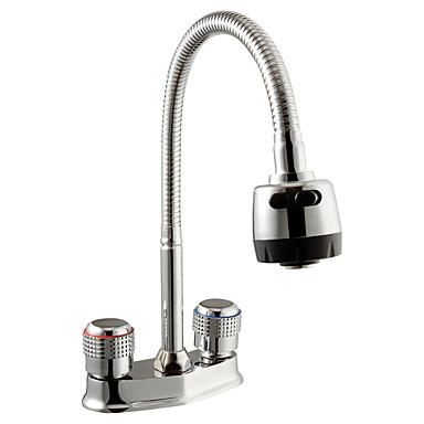 Moderne Vannrett Montering Roterbare with  Keramisk Ventil To Håndtak to hull for  Krom , Bathroom sink tappekran
